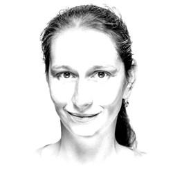 Porträtzeichnung Juliane Schunke