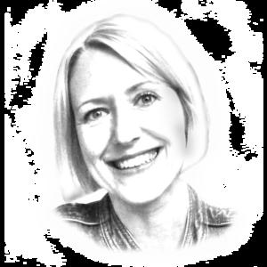 Portraitzeichnung der Leiterin des Historischen Archivs Janine Schütz