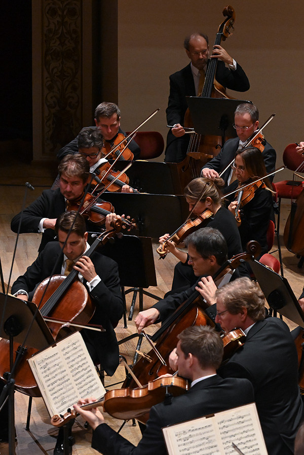 [Translate to Englisch:] Musiker*innen der Sächsischen Staatskapelle Dresden im Konzert