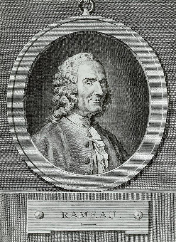 Schwarz-weiß-Porträt von Jean-Philippe Rameau