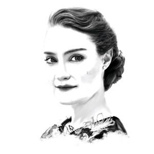 Porträtzeichnung Nikola Hillebrand