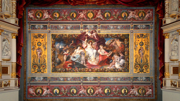 Faux stage curtain in the Semperoper