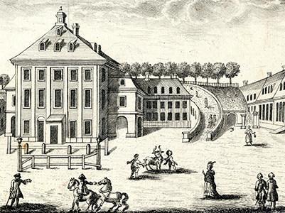 Morettisches Opernhaus, Radierung von Friedrich Gottlob Schlitterlau, um 1760