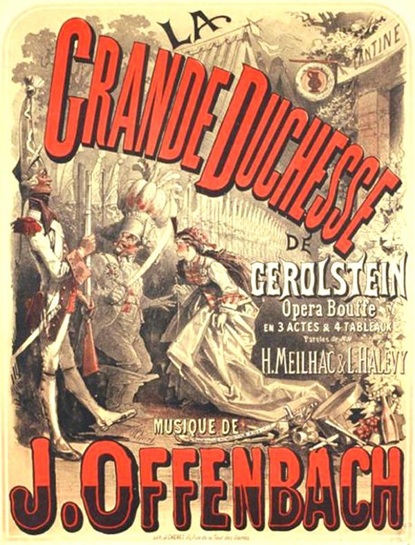Plakat zu »Die Großherzogin von Gerolstein« von Jules Cheret Farbe