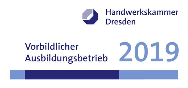 Auszeichnung als Vorbildlicher Ausbildungsbetrieb 2019 der Handwerkskammer Dresden