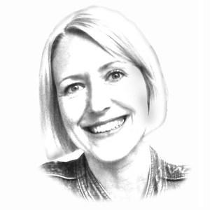 Porträtzeichnung Janine Schütz