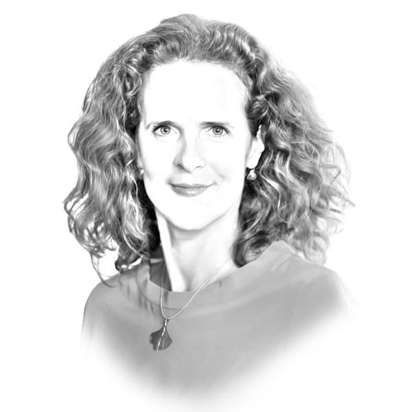 Porträtzeichnung Nora Schmid