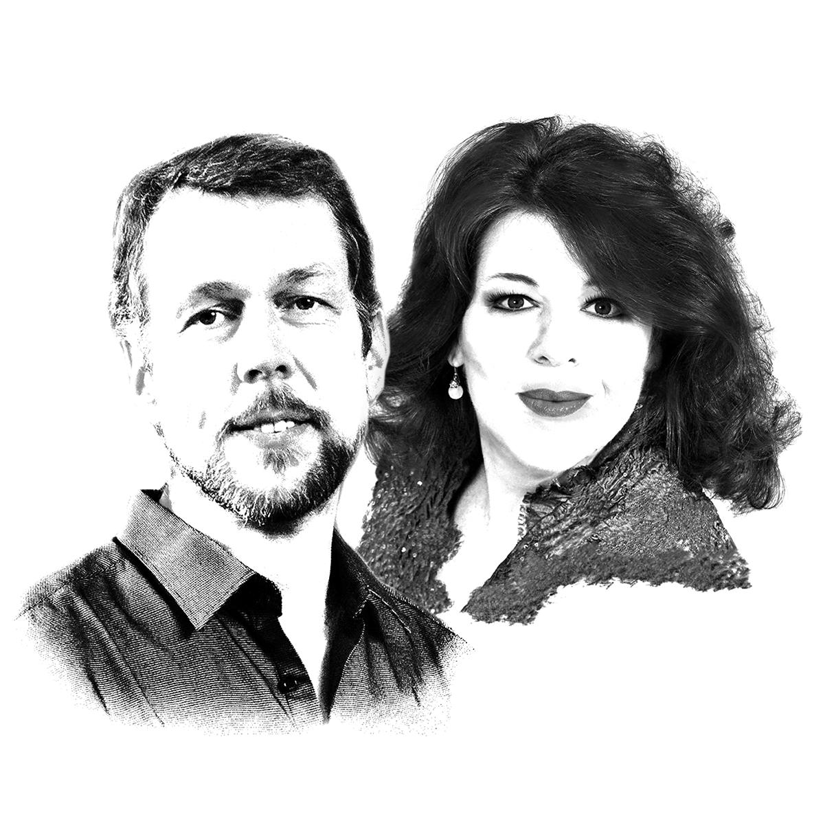 Portraitzeichnungen von Georg Zeppenfeld und Christa Mayer
