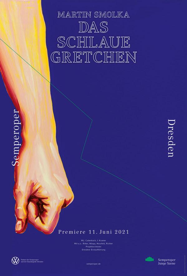 Premierenplakat 2020/21: »Das schlaue Gretchen«