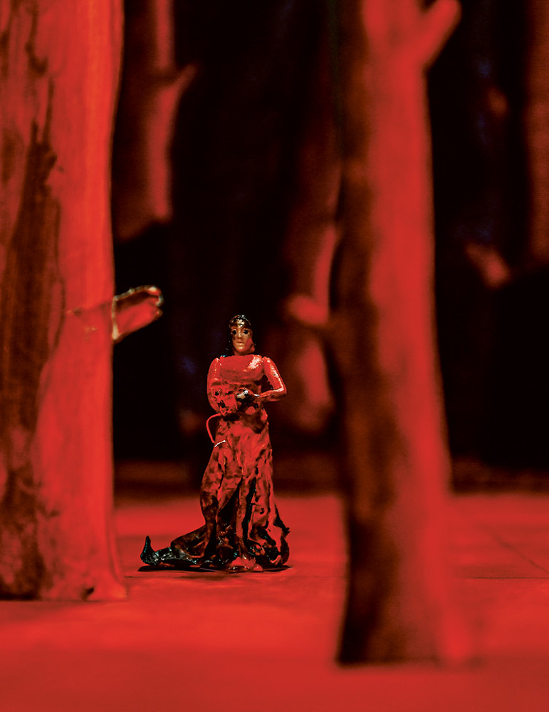 Bühnenbildmodell zur Neuinszenierung von »Norma«