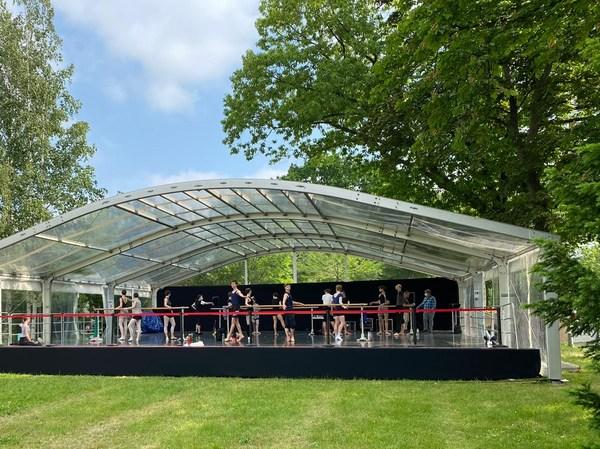 Palucca Sommerbühne im Garten der Palucca Hochschule für Tanz Dresden