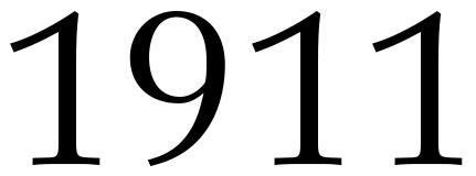 Zahl 1911