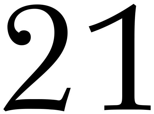 Zahl 21