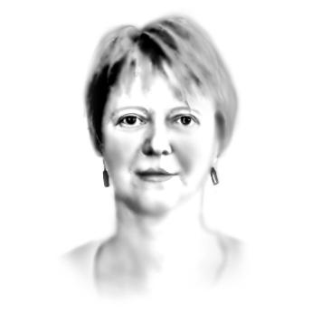 Porträtzeichnung der Bühnenbildnerin Heike Scheele
